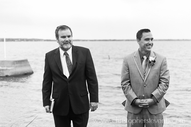 Groom and Officiant prior to wedding ceremony