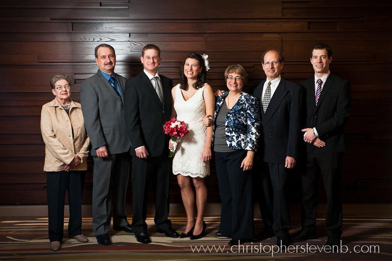 Group wedding photo taken at the Westin in Ottawa
