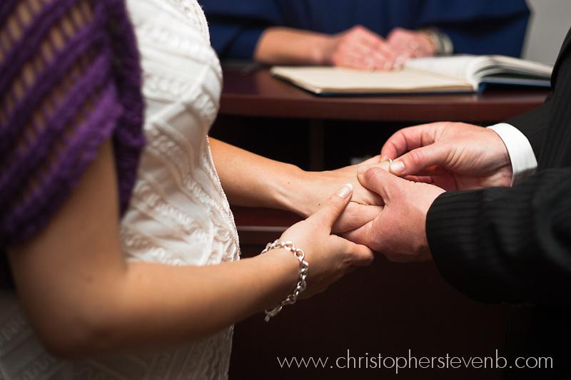 ring exchange during wedding ceremony