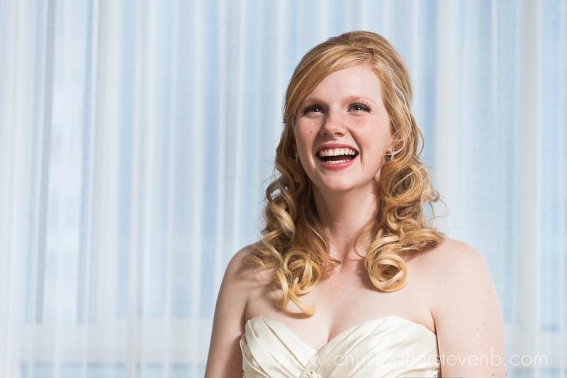 Bride smiling portrait
