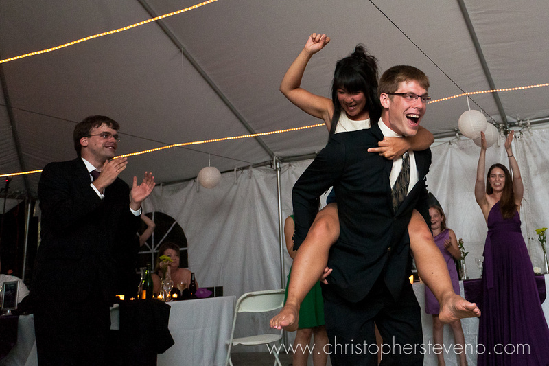 crazy dancing at wedding