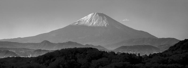 Mount fuji photographed from Kamakura, Japan