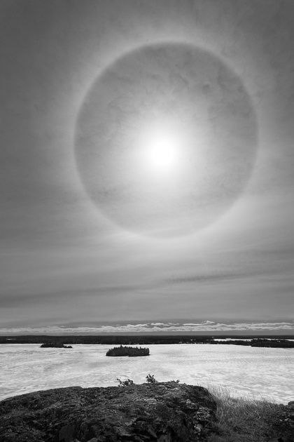 Sun dog in Sioux Lookout sky