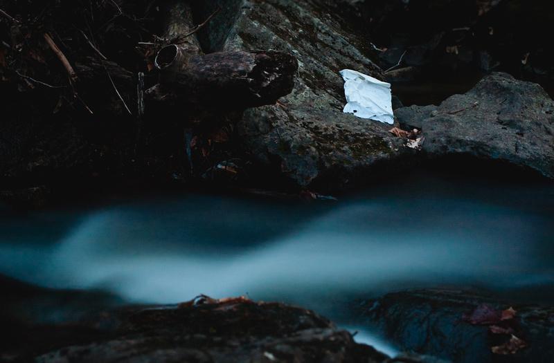 creek in Gatineau  Park - long exposure