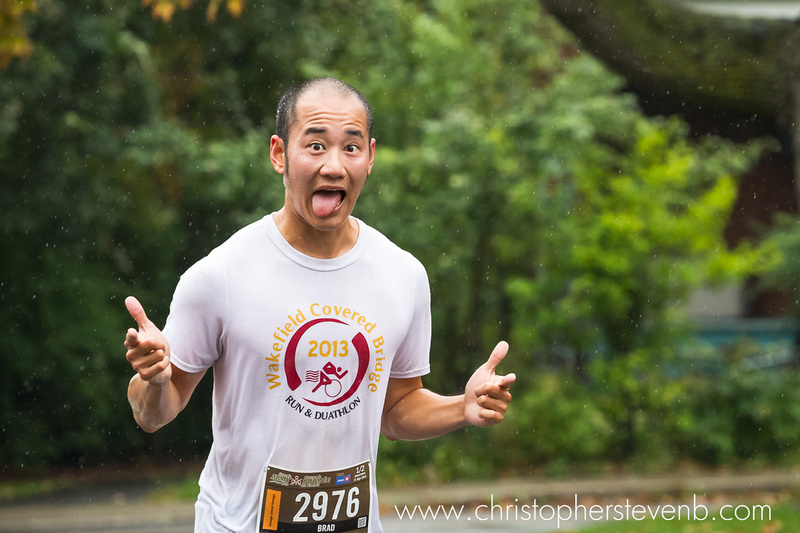 army run runner making funny face