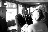 groom at Britannia yacht club wedding ceremony