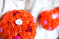 Wedding decor ideas orange bouquet