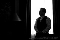 silhouette of groom at Ottawa wedding