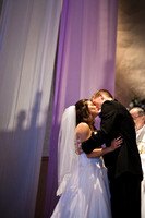 bride and groom kiss at wedding in Ottawa