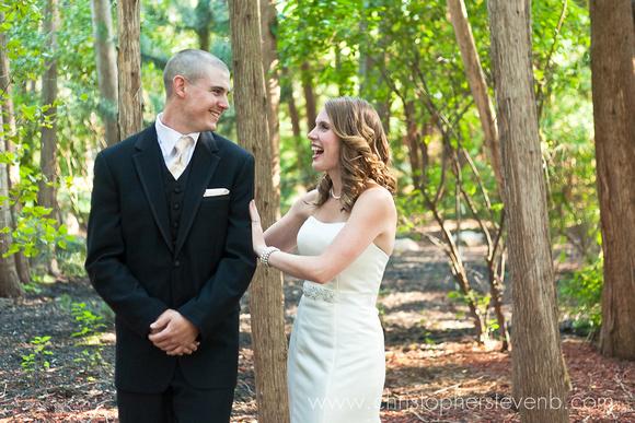 Ottawa wedding first look between bride and groom