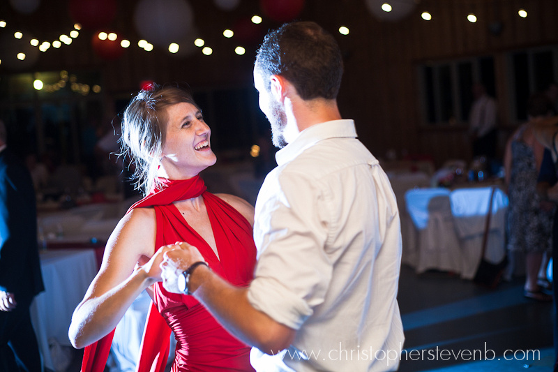 guests dancing during reception