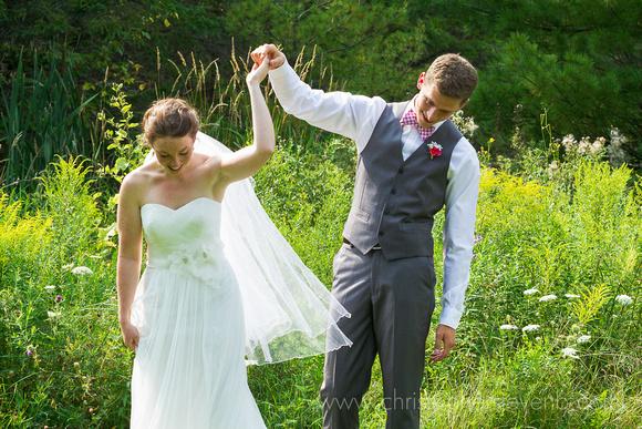 groom spinning bride after reveal