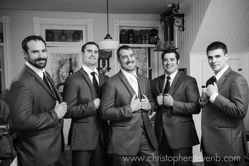 groomsmen before the wedding ceremony