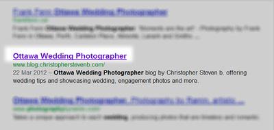 Google SERP Title