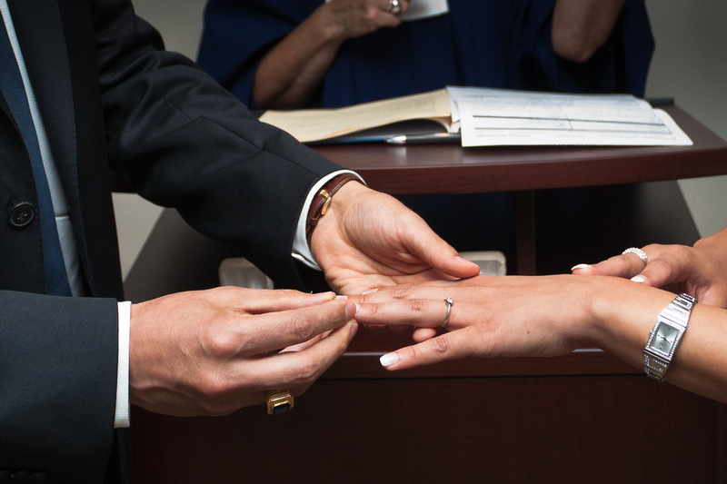 ring exchange at Ottawa City Hall wedding chambers