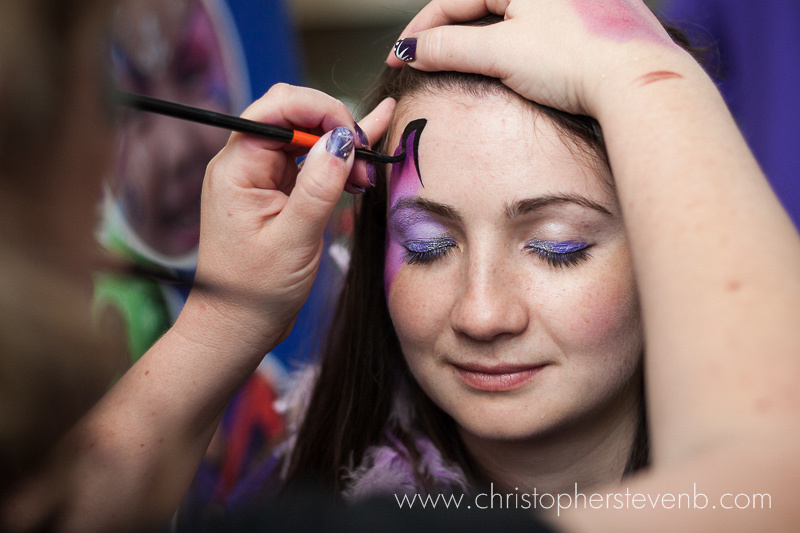 girl getting face painting at epilepsy ottawa event