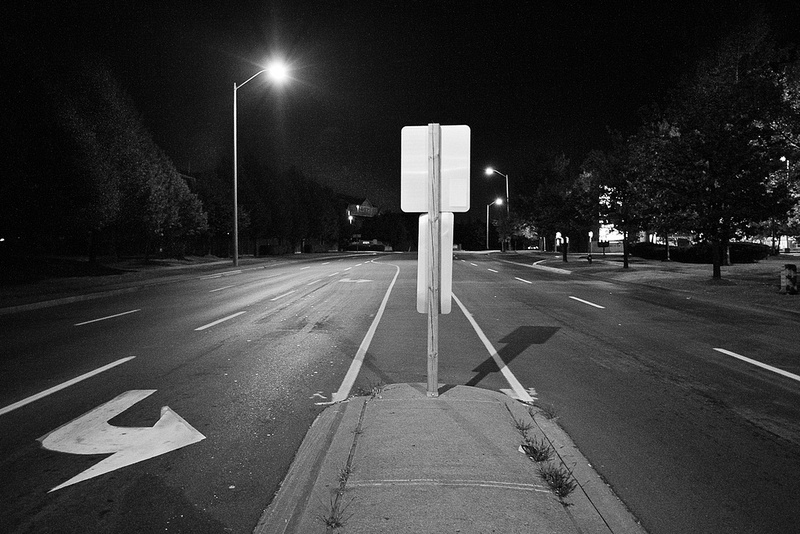 back of street sign on Bristol Rd. East in Mississauga