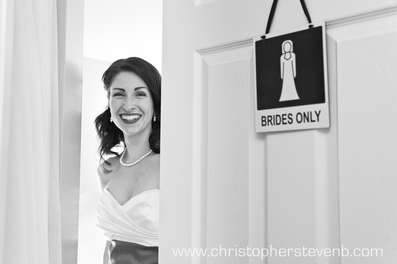 Bride about to get ready before wedding in Ottawa