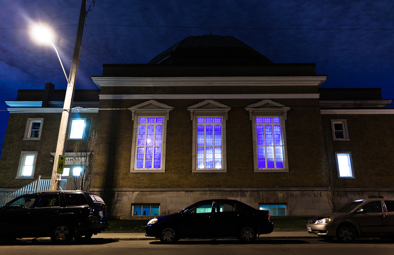 Glebe Community Centre outside photo at night