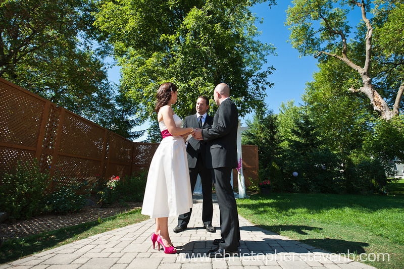 Wedding ceremony at the Schoolhouse