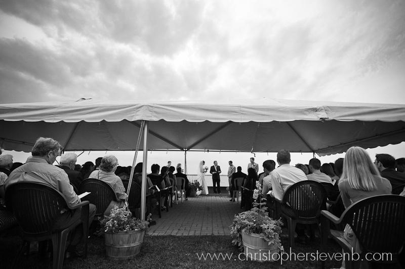 Stormy sky over Britannia Yacht Club wedding