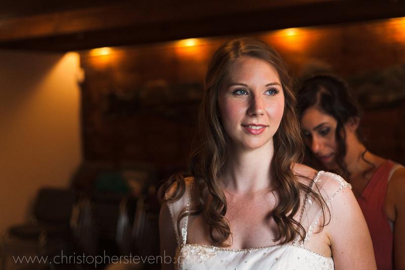 bride getting ready at Billings Estate